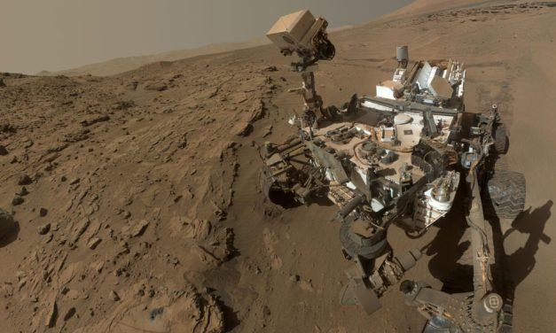 NASA Image of Water on Mars